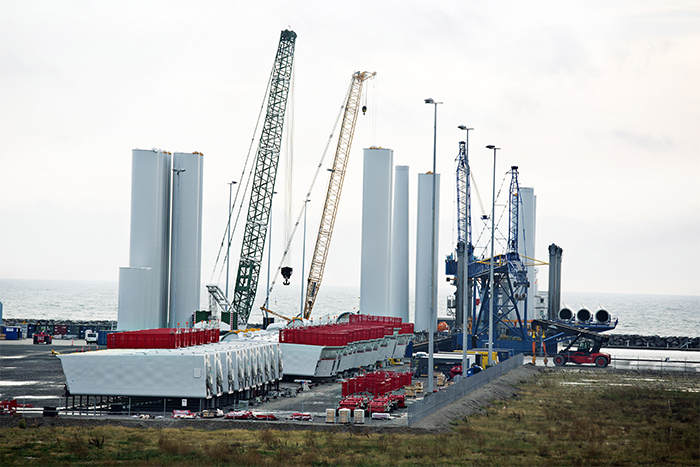 Pre-assembly at Port of Grenaa